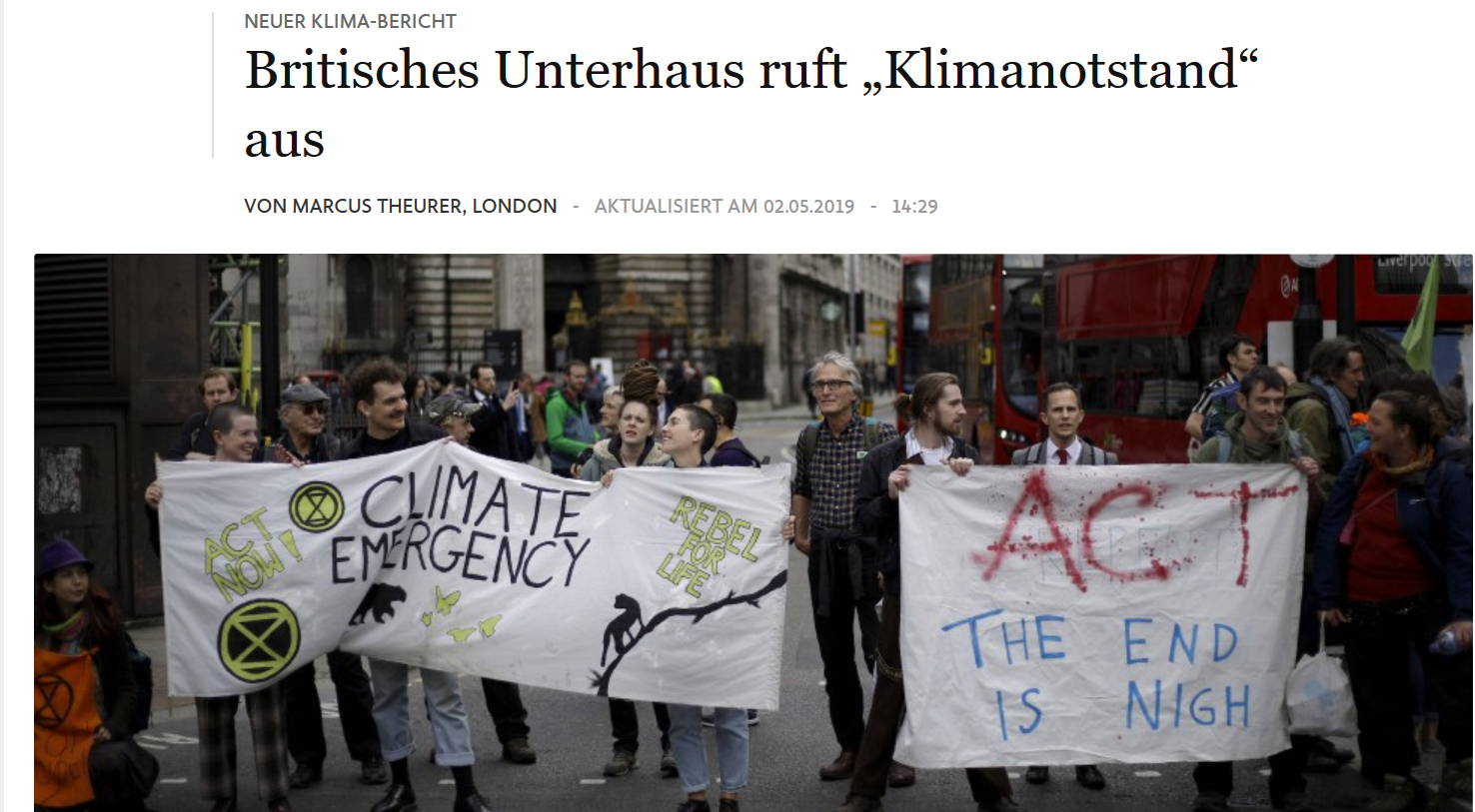 Konstanz und Großbritanien rufen Klima-Notstand aus